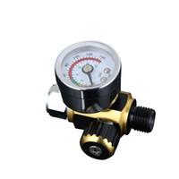 controle de pressão do compressor venda por atacado-1 pcs Air Line Control Compressor Medidor De Pressão Alívio Regulador Regulador regulador de pressão pistola regulador