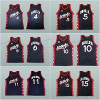 Wholesale Usa Pennies - 1996 USA Dream Three Jerseys 4 Charles Barkley 15 Hakeem Olajuwon 6 Penny Hardaway 11 Karl Malone 5 Grant Hill 10 Reggie Miller Blue Away
