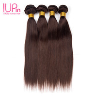 4 Bundles Color2 Cabelo Humano Brazilian Straight Straight Hair Ternas Weave dupla dobrável Vestuário de cabelo peruano Malaysian Indian Combodian Straight Wave