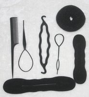 Wholesale Hair Updo Buns - TS hot sale Women's Magic Foam Sponge Hairdisk Hair Device Donut Quick Messy Bun Updo Headwear Normal and Ribbon type