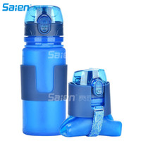 Wholesale Water Bottles Clips - Collapsible Silicone Leak Proof Sports Water Bottle Bag Clip Foldable Camping 500ml Canteen Folding Hydration Cup BPA Free for Cycling