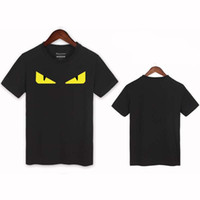 Wholesale Men S Fitness Fashion - 2017 Summer novelty Monster devil's Eye Men Fashion Cotton T-Shirts streetwear funny Tee tops clothing fitness T Shirt