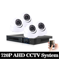 Wholesale Dvr Recorder 4ch Kit - NINI HD 1080P HDMI 4ch CCTV System 4 channel DVR KIT 720P Video Recorder with 1200TVL Security Camera Home Surveillance