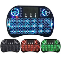 Wholesale New Mice - New Fly Air Mouse 2.4G Mini i8 Wireless Keyboard Backlit With Backlight Red Green Blue Remote Controlers For MXQ M8S MiniX