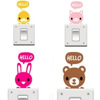 Wholesale Big Promotion Cartoon Animal Eco Friendly Home Decoration Switch Sticker Wall Stickers for Kids Room
