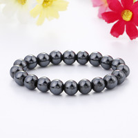 Wholesale Mens Health Bracelets - New Women Mens Healing 8mm 10mm 12mm Natural Stone Mala bracelet Men Jewelry Hematite health Beaded bracelet Charm free shipping
