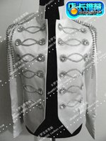 Wholesale Leather Splice Short Sleeve - man silver black jacket outfit singer dancer wear Custom lounge male stage blazer prom party outfit coat bar star concert costumes nightclub