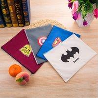 Wholesale Document Storage A4 Bag - A4 Folder Document Zipper Storage Bag Cartoon Totoro Superman Comic Hero Oxford Organizer Document Folder For Documents