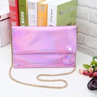 Wholesale Clutch Dropship - Wholesale- 2016 New Shinning Womens Envelope Clutch Chain Purse Lady Handbag Hot Products Wholesale And Dropship