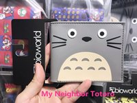 Wholesale Vintage Cat Christmas Cards - Japan Cartoon Designer Cat Wallet Studio Ghibli Kawii My Neighbor Totoro Purse For Girls 3D Picture Hayao Miyazaki Anime Wallets