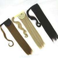 Wholesale hair synthetic pony online - High Temperature Fiber Hair Drawstring Little Pony Tail Clip in Hair Extensions Synthetic Hair Ponytail Hairpieces