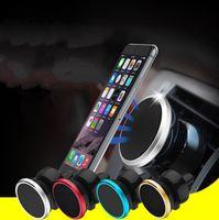 держатель сотового телефона с воздушным вентилятором оптовых-Дешевые магнитный автомобиль вентиляционное отверстие держатель MagGrip 360 вращение универсальный сотовый телефон держатели поворотная головка для смартфонов GPS Pad