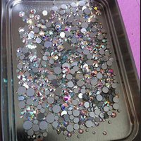Wholesale Rhinestone Ss3 - Super Shiny 1000pc Pack Mix Size (ss3 ss4 ss5 ss6 ss8 ss10 ss12 ss16 SS20) Non Hotfix Crystal Clear AB For Nail Art Flatback Rhinestones