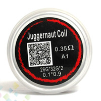 Wholesale E Cigarette Wire - Juggernaut Coil Heating Wires Resistance 0.35ohm sold by pc 26G*32G*2 Resistance Juggernaut Wire Fit RDA RBA E Cigarette DHL Free