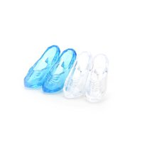 """Wholesale Accessories For Shoes - New 1 Pairs Crystal Shoes for 11"""" Barbie Cinderella Doll Accessories 2 Colors"""