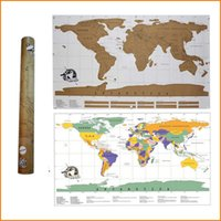 Wholesale Travel Scratch Off Map Personalized World Map Poster Traveler Vacation Log national geographic world map Wall Sticker Home Decor