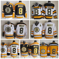 f2be5e9ea Mens Cam Neely Boston Bruins Hockey Jerseys  8 Cam Neely 75th Anniversary  Black Vintage CCM Cam Neely Stitched Jerseys A Patch S-XXXL