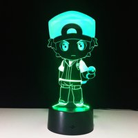 3D Police Boy Optical Illusion Lamp Night Light DC 5V USB Chargeur AA Battery Wholesale Dropshipping Livraison gratuite Retail Box