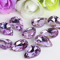 Wholesale Metal Spikes 25mm - 18*25mm Multicolor Glass Point Rhinestones Drop Shape Fancy Strass Crystal Stones For Jewelry Clothes Crafts