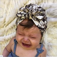 Wholesale Star Beanies Baby - 2017 New baby hats Star Pattern Baby Girls Dot Cotton Bohemia Floral Caps Kids Children India Hat Head Wraps Spring Beanie BH60
