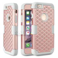 Wholesale Iphone Cas Wholesaler - Armor Case For iPhone 7 Hybrid 3 in 1 Silicone PC Full Cover Case Rugged Protective For iPhone 7 iPhone 6S Plus Cas with 100PCS OPP Package