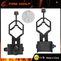Wholesale Binoculars Microscope - FIRE WOLF Universal Cell Phone Adapter Mount- Compatible with Binocular Monocular Spotting Scope Telescope and Microscope adapte
