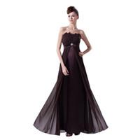 estilo imperio vestidos largos al por mayor-El último vestido elegante de las señoras de la tarde del vestido largo gasa imperio estilo Straight Design Zip Back vestido de la marca