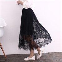 Wholesale Dresses Bud Render - Ms han edition 2017 summer bud silk skirts dress lace skirt render skirt