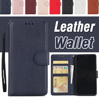 Wholesale Wallet Iphone Money Flip - PU Leather Flip Fold Wallet Case With Money Pocket Card Slots Stand Shockproof Cover For iPhone X 8 7 Plus 6 6S Samsung S8 S7 edge Note 8