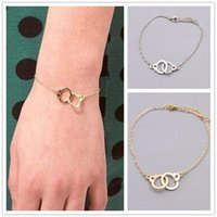 Wholesale Charm Handcuff - Fashion accessories jewelry Handcuffs charm link bracelet gift for women girl B3365