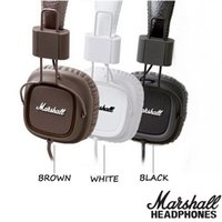 Wholesale Monitor Marshall - Marshall Major headphones With Mic Deep Bass DJ Hi-Fi Headphone HiFi Headset Professional DJ Monitor Headphone