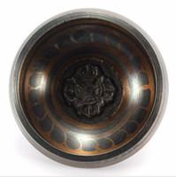 Wholesale Buddhist Bowl - New Arrival Tibetan Buddhist Brass Chakra Singing Bowl Yoga Meditation Healing Wood Hammer for Home Garden Room Decoration