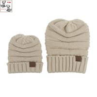 Wholesale Order Wool Suit - CC Beanies 2016 Paternity-hats Beanies Hats 2 piece suit wool Knit Hat Sports Cap Mix Match Order All Caps Top Quality kids Hat