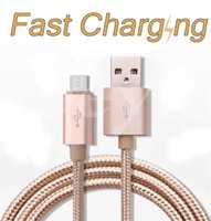 Wholesale Houses Color - Metal Housing Braided Micro USB Cable Durable Tinning High Speed Charge Type C Cables 10000+ Bend Lifespan For Android Samsung Smart Phone