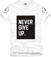 Wholesale Give Shirt - Free shipping Children's T-shirt Never give up Printed short-sleeve t-shirt fashion Tee for Kids tshirts 100% cotton 6 color