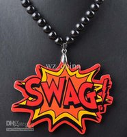 Wholesale Hip Hop Beaded Acrylic Necklaces - SWAG acrylic Necklace Hip hop Pendants good Qualities Beaded rosary jewelry