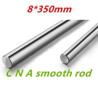 Wholesale Linear Motion Guides - Wholesale- 4pcs 3D printer parts rod 8mm linear shaft L 350mm chromed linear motion guide rail round rod Shaft for cnc parts