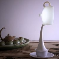 Wholesale Teapot Night Lights - Teapot eye light night light USB rechargeable induction lamp LED creative products hospitality six color options
