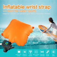 Anti Drowning Bracelet Swim Surf Outdoor Water Wrist Self Rescue Float Wristband With Co2 Cylinder Lifesaving Bracelet CCA6681 5pcs