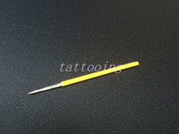 Wholesale Deluxe Tattoo - 100Pcs 5RL Permanent Makeup Needles Tattoo needle For Deluxe Merlin Machine Eyebrow Tattoos