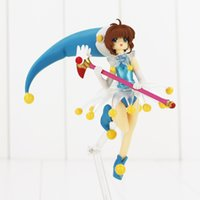Wholesale Cardcaptor Doll - 20151126 Free Shipping 13cm Anime Cardcaptor Sakura Action Figure Sakura Kero With Magic Wand Figfix Model Doll Collectible Toy