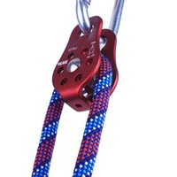 Wholesale Rope Pulleys - 20KN 2000kg Outdoor Travel Kits Climbing Rope Pulley Single Fixed Pulley Mountaineering Rope Climbing Rappelling Survival Equipment