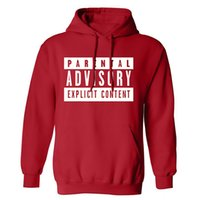 Wholesale Mens Wholesale Hoodie - Wholesale-Hot Parental Advisory Sweatshirt mens hoodies and sweatshirts Hip Hop Rock Hoodie Mens Tracksuits Pullovers Crewnecks Sweatshirt