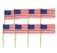 Wholesale cake supplies for sale - Mini USA Flag Paper Food Picks Dinner Cake Toothpicks Cupcake Decoration Fruit Cocktail Sticks Party Supplies