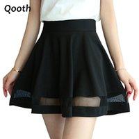 Wholesale High School Girl Mini Skirt - 2016 New School Style Women's Skirt High Waist Summer A-Line Skirt Mini Plaid Slim Pantskirt For Girl With Mesh Design DN355