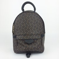 Wholesale Mm Backpacks - Top quality Women Palm Springs Backpack MM PM Mini genuine leather children backpacks PM women printing Palm Spring backpack MM Real leather