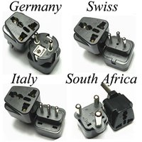 Wholesale Swiss Plug - Universal Swiss Switzerland Italy Germany Small Big South Africa AC Power Plug Converter Adapter Electrical Adaptor Travel Charger Socket
