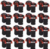 """Wholesale Black Red Yoyo - 2017 Men Chicago White Sox Yoan Moncada """"YoYo"""" Jose Abreu """"Mal Tiempo"""" Matt Davidson """"Matty D"""" Derek Holland """"Dutch"""" Little League Jerseys"""