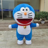 Wholesale Cat Mascot Head Costumes - HOT Big Head Mechanical Cat of Doraemon Mascot Costume Halloween Fancy Dress..