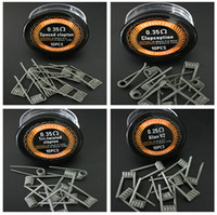Newest 316L Prebuilt coil Alien V2 Spaced clapton Clapception Tri-twisted clapton coil high quality premade coils for RDAs Free Shipping